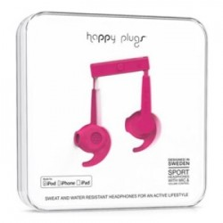 Happy Plugs Hoofdtelefoon In-ear Sports MFI Cerise