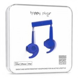 Happy Plugs Hoofdtelefoon In-ear Sports MFI Cobalt